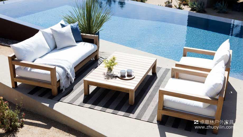 户外家具厂全面解决泳池空间户外家具软装设计方案